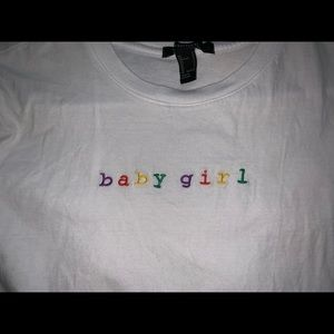 Tee shirt that says BABY GIRL